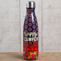 """Happy Camper"" Double Wall Water Bottle"