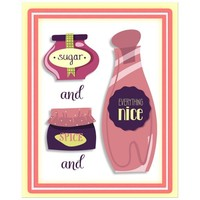 8x10 Sugar and Spice and Everything Nice Contemporary Wall Art