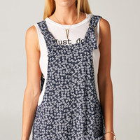 NAVY FLORAL OVERALLS