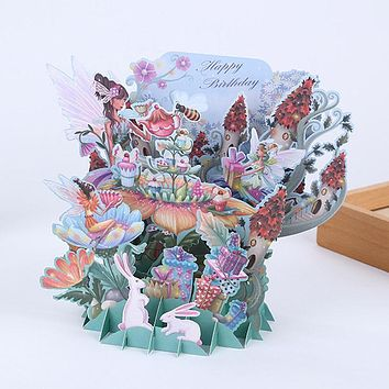 3D Laser Cut Handmade Greeting Card