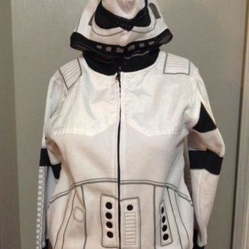 Disney XL boys STAR WARS Stormtrooper Child Hoodie Jacket halloween Costume kids