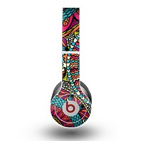 The Vector Colored Aztec Pattern WIth Black Connect Point Skin for the Beats by Dre Original Solo-Solo HD Headphones
