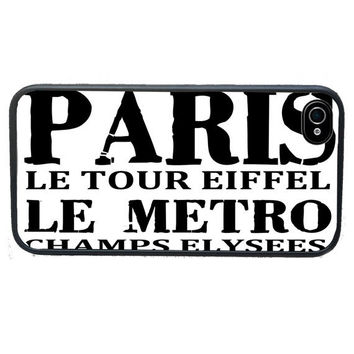 iPhone case Paris Subway Scroll, fits iPhone 4, 4s - iPhone 5 Case - Gifts Under 25