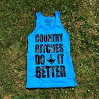 Luckless LLC | Country Bitches- Blue