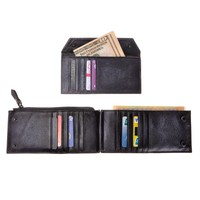 ZLYC Handmade Dip Dye Leather Long Card Organizer Wallet with Removable Card Holder
