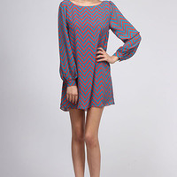 Chevron Everyday Dress in Rust from Rad and Lux