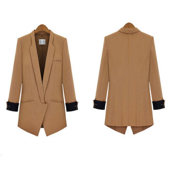 Women Blazers Slim Elegant OL Suits Business Jackets Feminino Leisure Work Wear Casual Autumn High Quality