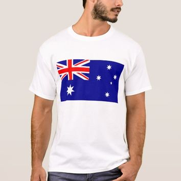 T Shirt with Flag of Australia