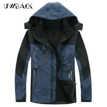 Brand Clothing Waterproof Softshell Jacket Men Winter Tech Fleece Windbreaker Trekking Ski Rain Coat Outdoor Hiking Jacket,UA020