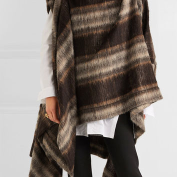 Vivienne Westwood Anglomania - Gaia brushed knitted cape