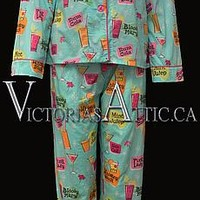 Pj Salvage Playful Drink Print PJ Set : Victoria's Attic