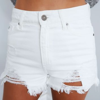 Just Me Shorts: White