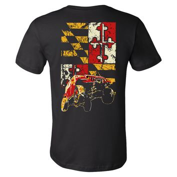 Maryland Flag Wrangler JK Jeep T Shirt