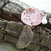I Love You To The Moon And Back Necklace | KottageKreations - Jewelry on ArtFire