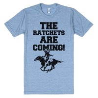 The Ratchets are Coming-Unisex Athletic Blue T-Shirt