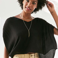 Silence + Noise Exton Cape-Sleeve Popover Top - Urban Outfitters