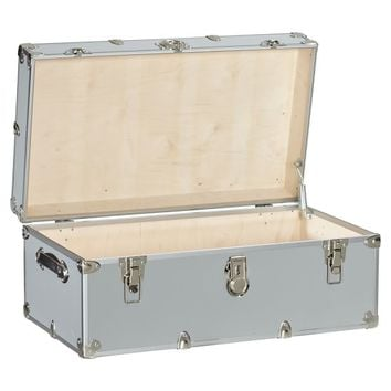 Attractive Dorm Trunks With Silver Trim