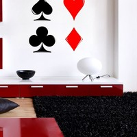 Vinyl Wall Decal Sticker Playing Cards Symbols #1089