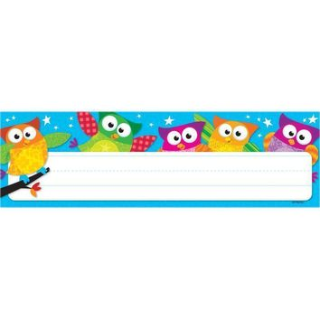 OWL STARS DESK TOPPERS NAME PLATES