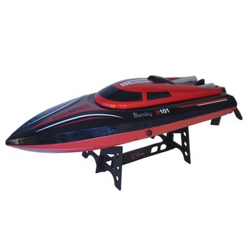 H101 RC Racing Boat 2.4G 180 Degree Flip High Speed Electric Remote Controlled Toy for Lakes and Outdoor Adventure