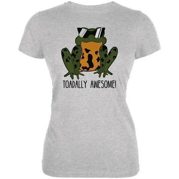 CREYCY8 Toad Totally Awesome Funny Pun Juniors Soft T Shirt