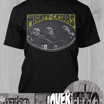 the mighty caesars TShirt Tee Shirts Black and White For Men and Women Unisex Size