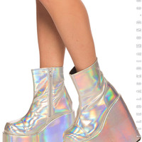 Slay Holographic Platform Boots