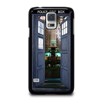 dr who tardis open the door samsung galaxy s5 case cover  number 1