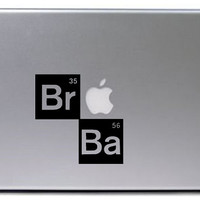 Breaking Bad Decal / Heisenburg Decal / Macbook Decal / Laptop Decal / Laptop Sticker / Breaking bad