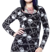 IRON FIST URBAN DECAY BODYCON DRESS - Sourpuss Clothing