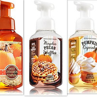 Bath & Body Works Pumpkin Scented Foaming Soap Variety Bundle, 8.75 fl oz (Pack of 3) includes 1-Bottle Pumpkin Pecan Waffles + 1-Bottle Sweet Cinnamon Pumpkin + 1-Bottle Pumpkin Cupcake