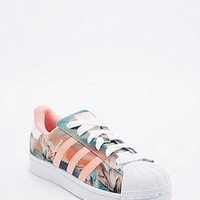 Adidas Farm Superstar Trainers in Coral - Urban Outfitters