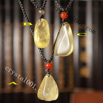 Rough Polished Raw Citrine Chunky Necklace USA