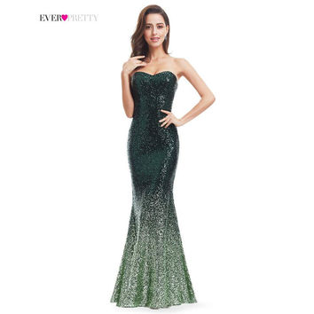 Ever Pretty Women Mermaid Sweetheart Strapless Party Prom Gown