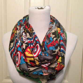 Marvel scarf- now available in regular and infinity! Ironman, Thor, Captain America, Hulk, Spiderman, wolverine