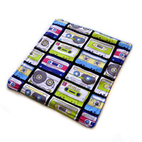 Mix Tapes  Dish Cloth by WeThreeTrees on Etsy