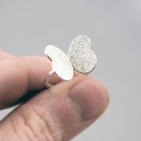 Cute Texturized Sterling Silver Ring. Roll Printed Texture.VARIACIONES Ring.