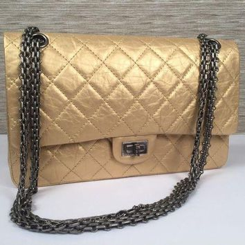 Chanel Metallic 2.55 Reissue Quilted Classic Flap Cross Body Shoulder Bag $5500 - Beauty Ticks