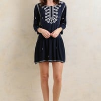 Starry Light Embroidered Dress