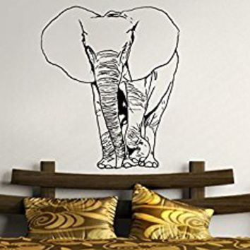 Wall Decal Vinyl Sticker Decals Art Decor Design Elephant Wild Wird Animal Mural Ganesh Tribal Buddha India Bedroom Dorm(r681)