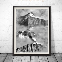Nature Photography, Mountain Photography, Mountain Clouds, Fine Art Photography, Mountain Photos, Mountain Clouds, Clouds Print Large Poster