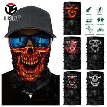 3D Magic Seamless Skull Skeleton Ghost Joker Clown Tube Neck Scarf Face Mask Bicycle Motorcycle Bandana Headband Headscarf