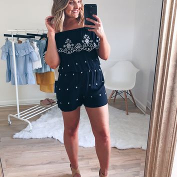 Rebecca Floral and Star Combo Romper