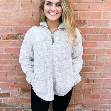 Dylan Frosty Tipped Stadium Pullover - Oatmeal