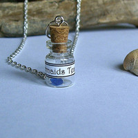 Mermaids tear necklace. Mermaids tear in a bottle. Pirates of the Caribbean inspired.