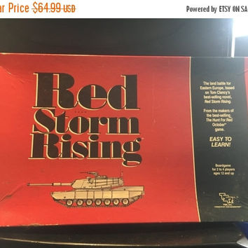 5 DAY SALE (Ends Soon) 1989 Vintage Red Storm Rising NEVER Used Board Game