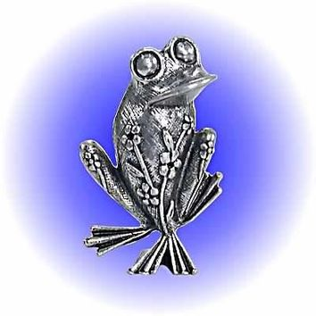 Magical Frog Pewter Figurine  Lead Free