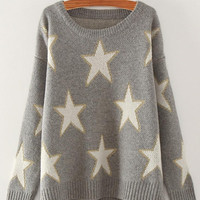 Cupshe Take It Easy Stars Oversized Sweater