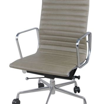 Langley High Back Office Chair, Vintage Smoke