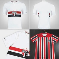 Sao Paulo home white Soccer Jersey 2017 Brazil Sao Paulo away Soccer Shirt Customized football uniform 17/18 Sales